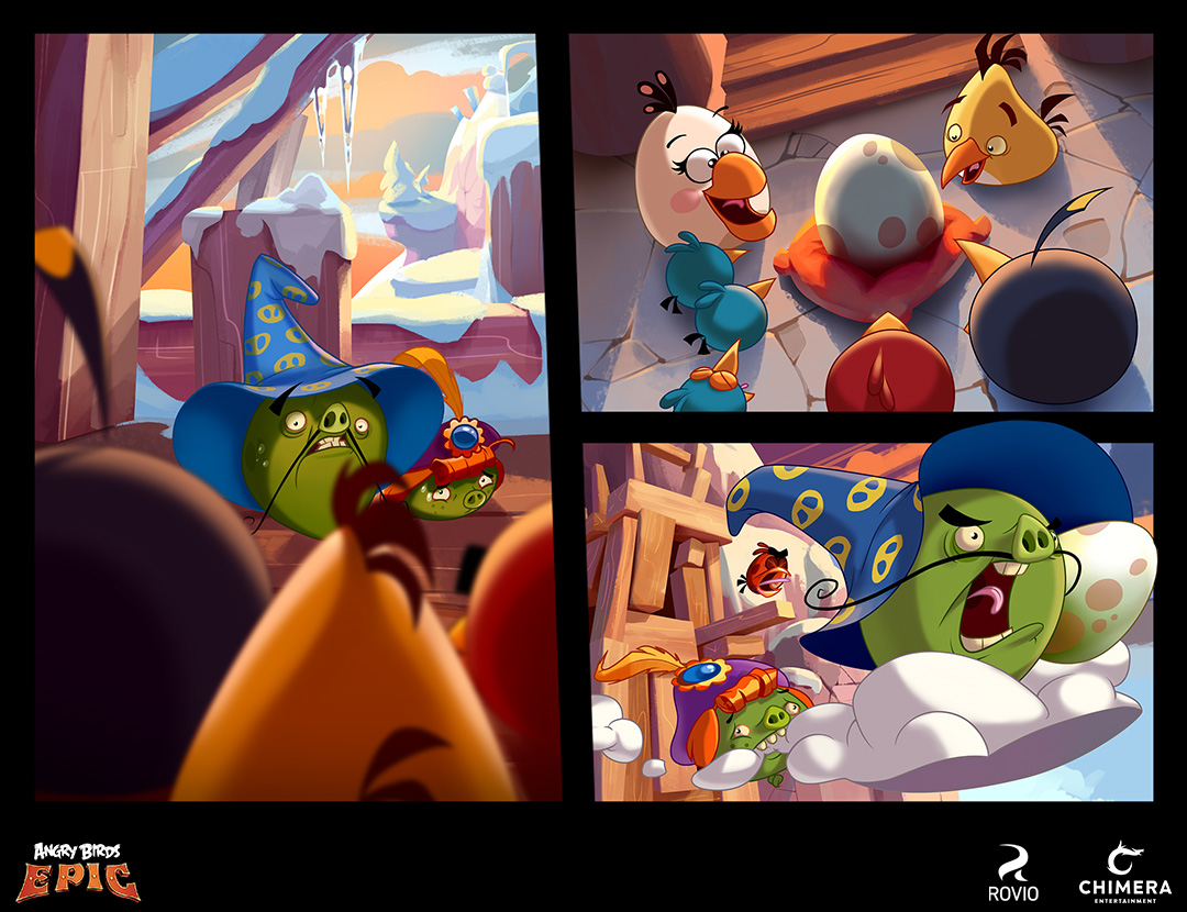 angry birds epic - comic cutscenes