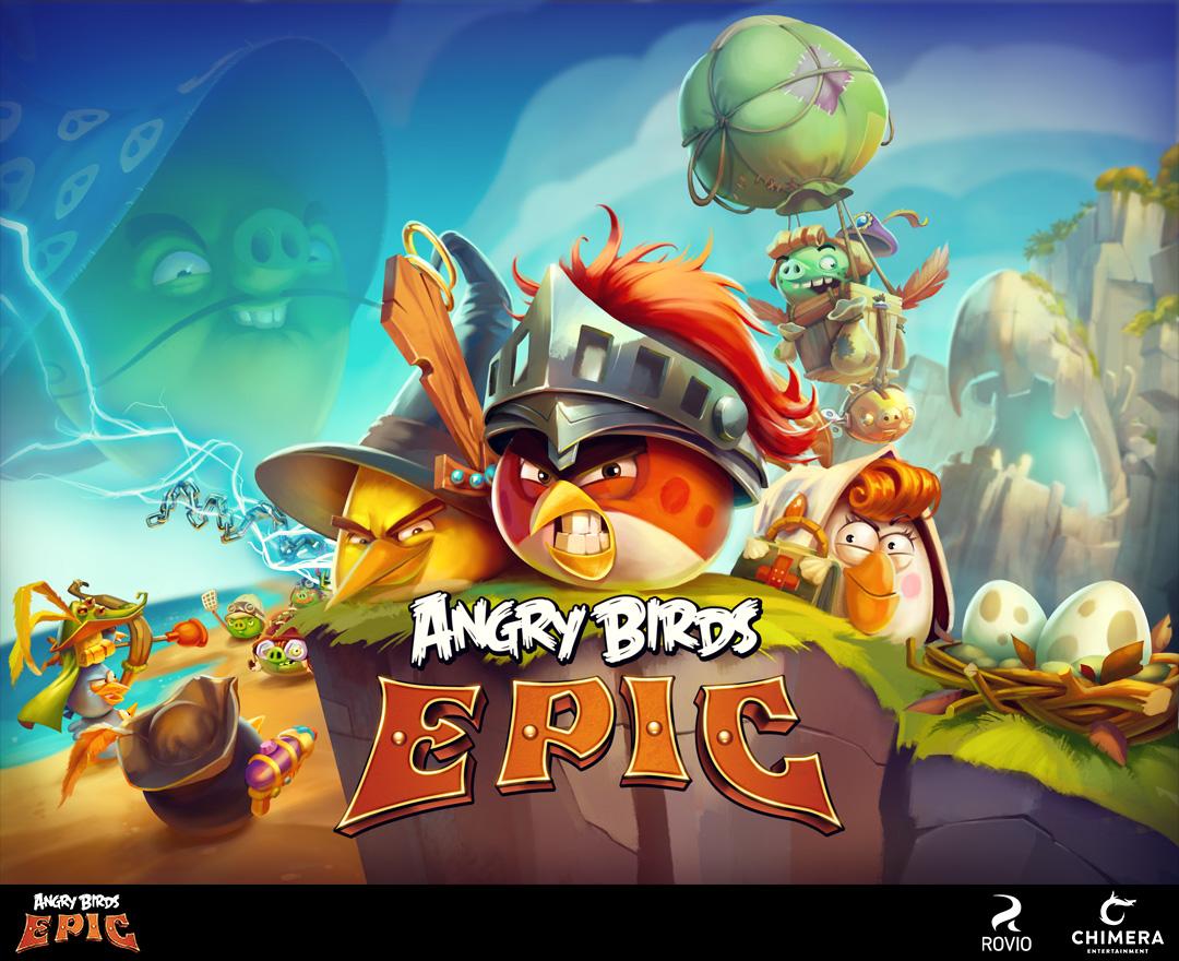 angry birds epic - keyart