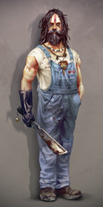 2d, photoshop, concept, character, cannibal, redeck