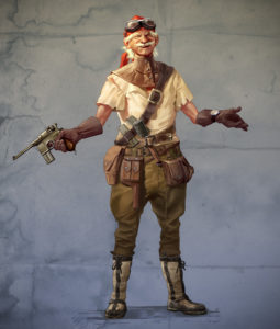 2d; photoshop; concept; character; air; pirate; gun; goggles; aviation; gear