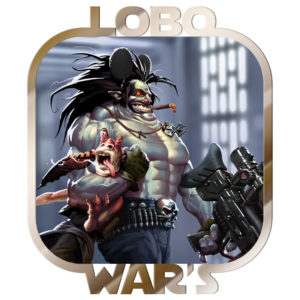 photoshop, digtial, illustration, lobo, jar jar bink, star wars